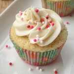 Vanilla Bean Cupcake with Sprinkles